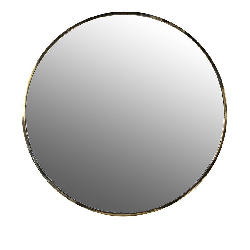 Alexa Round Golden Mirror
