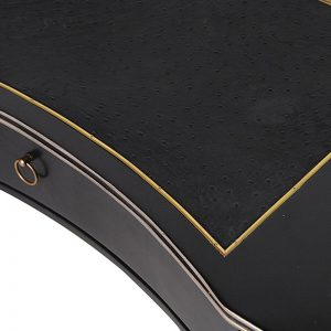 Allegra Black Desk With Gold Trim