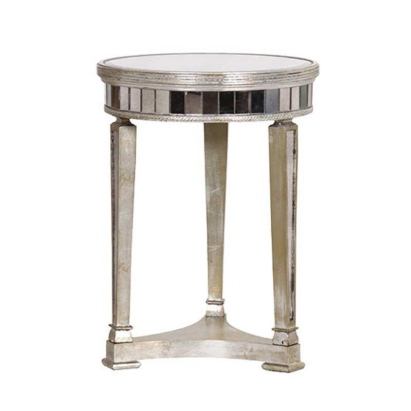 Amedeo Mirrored Side Art Deco Side Table