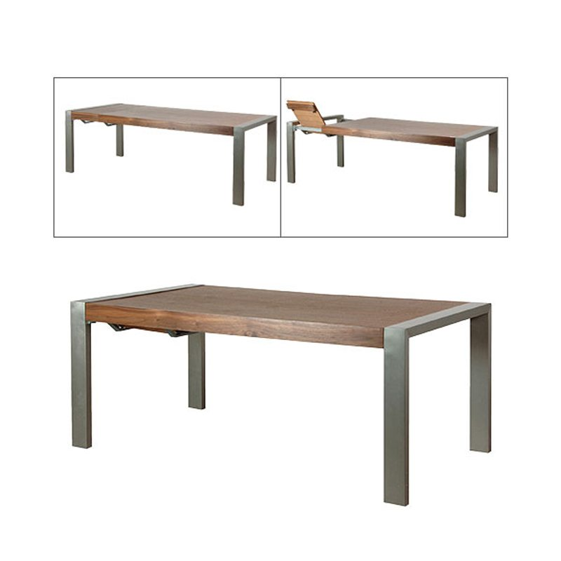 Aria Wooden Extendable Dining Table With Chrome Legs