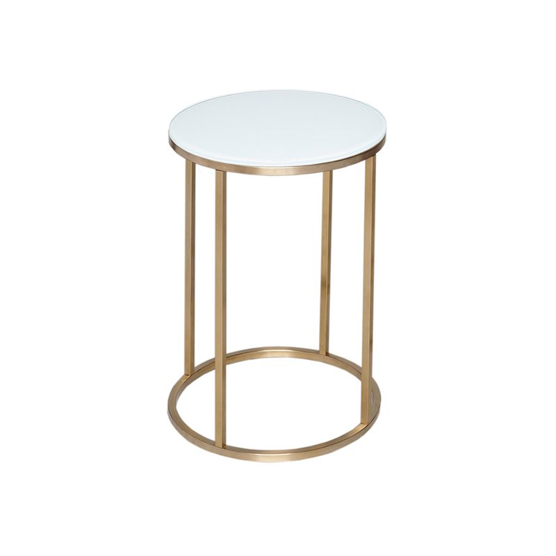 Armino Round White Side Table