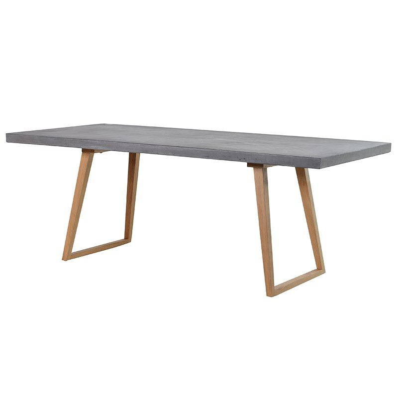 Bellaso Concrete Top Dining Table With Angled Legs