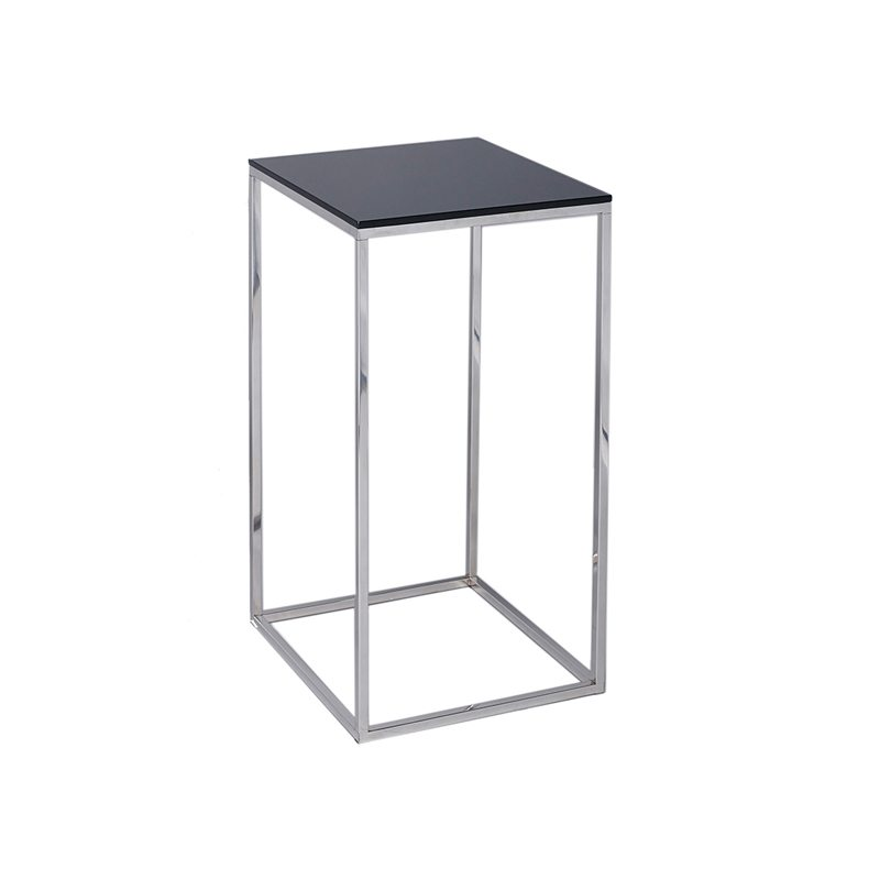 Square Black Side Table