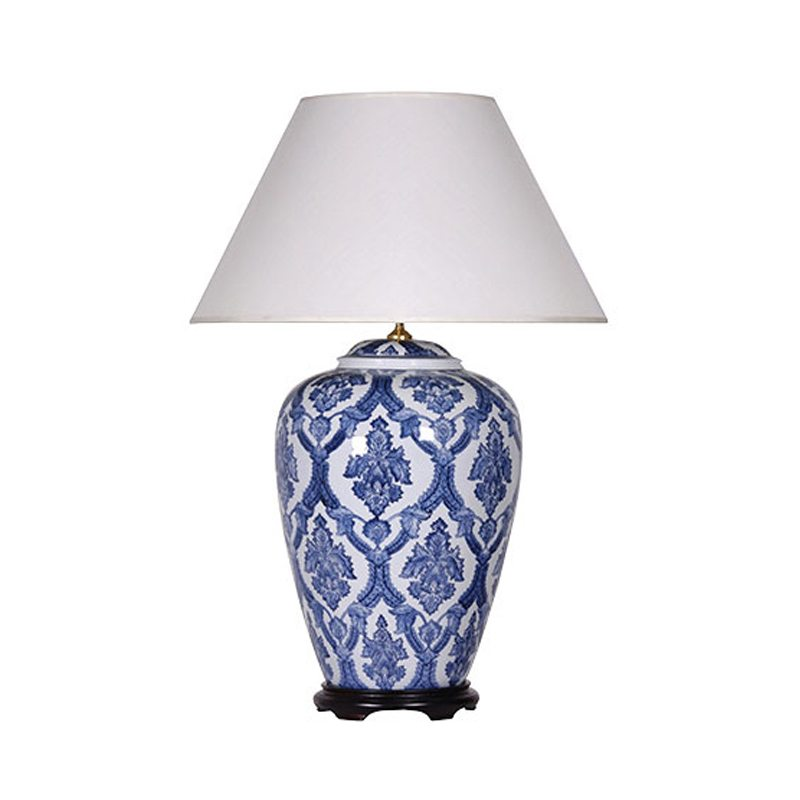Eliseo Blue and White Porcelain Table Lamp