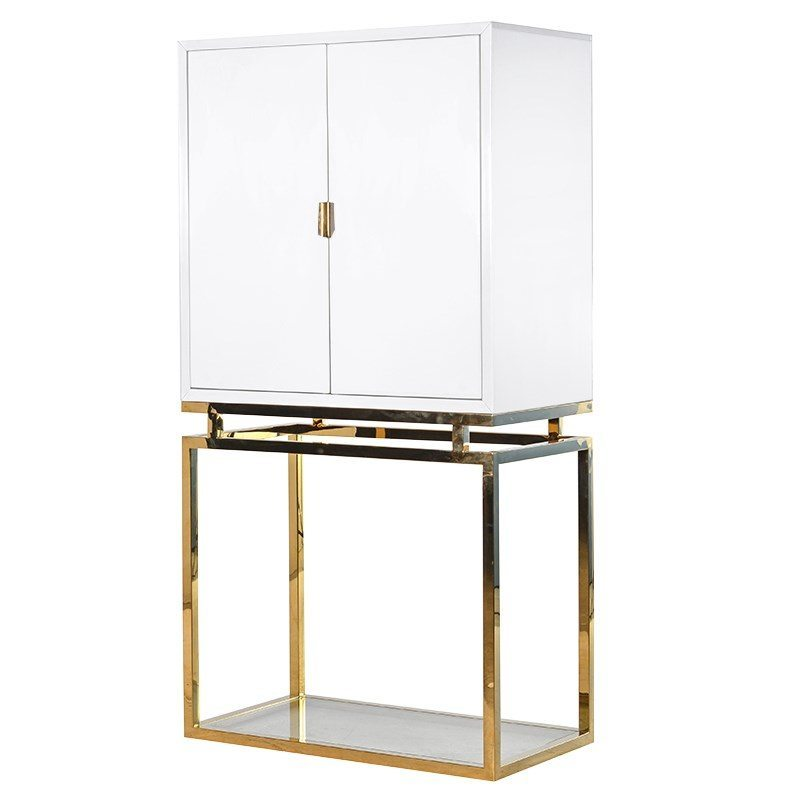 Elmo White And Gold Cabinet