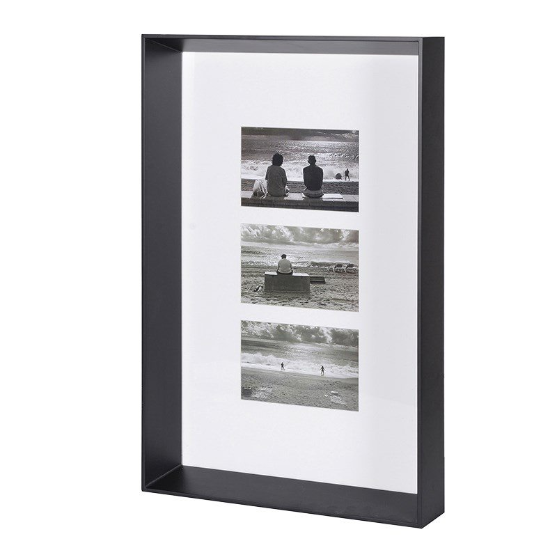 Ethan Black Three Photo Frame