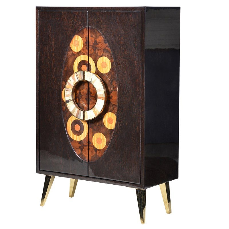 Gabriela Rich Dark Brown Lacquer Cabinet