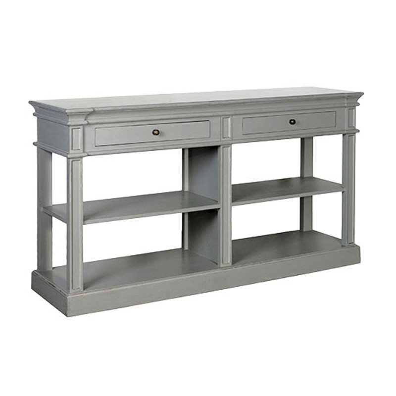 Giuliano Open Distressed White Sideboard