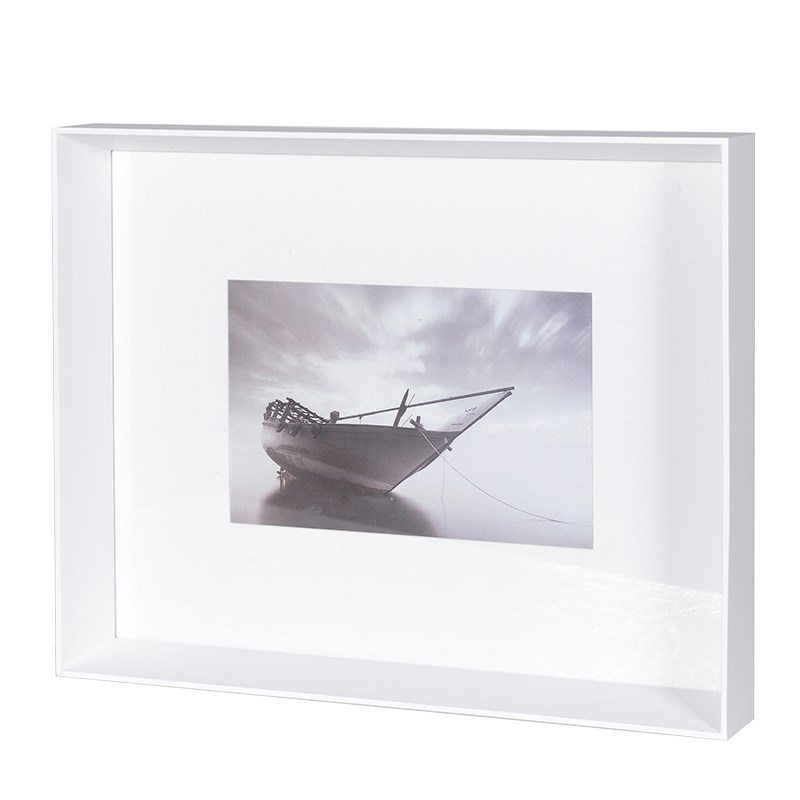 Jackson White Mat Photo Frame
