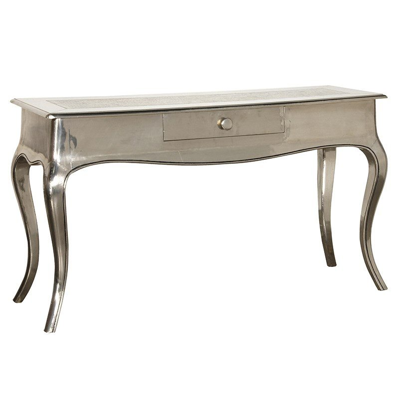 Kaitlyn Silver Console Table with Cabriole Legs