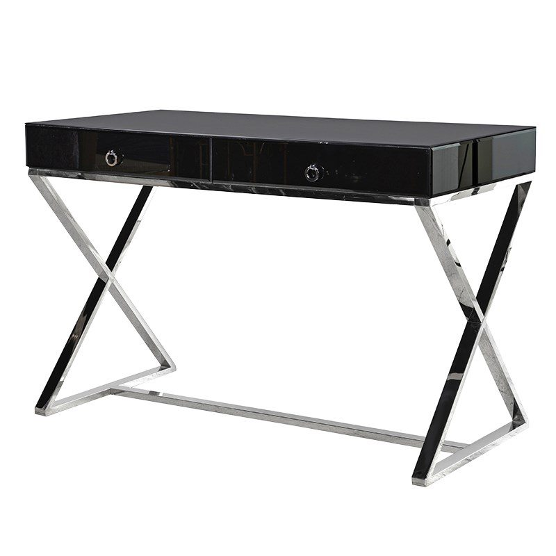 Kayla Black Glass Dressing Table