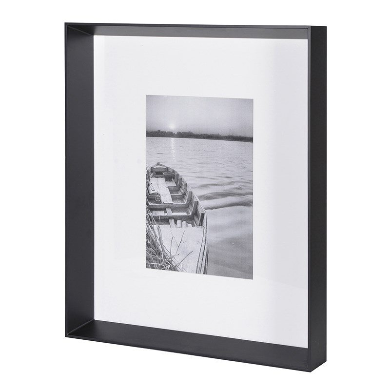 Liam Black Photo Frame With White Mat