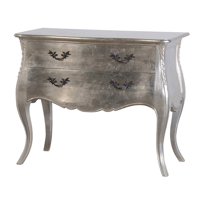 Lily French Style Chest of Drawers With Metallic Finish