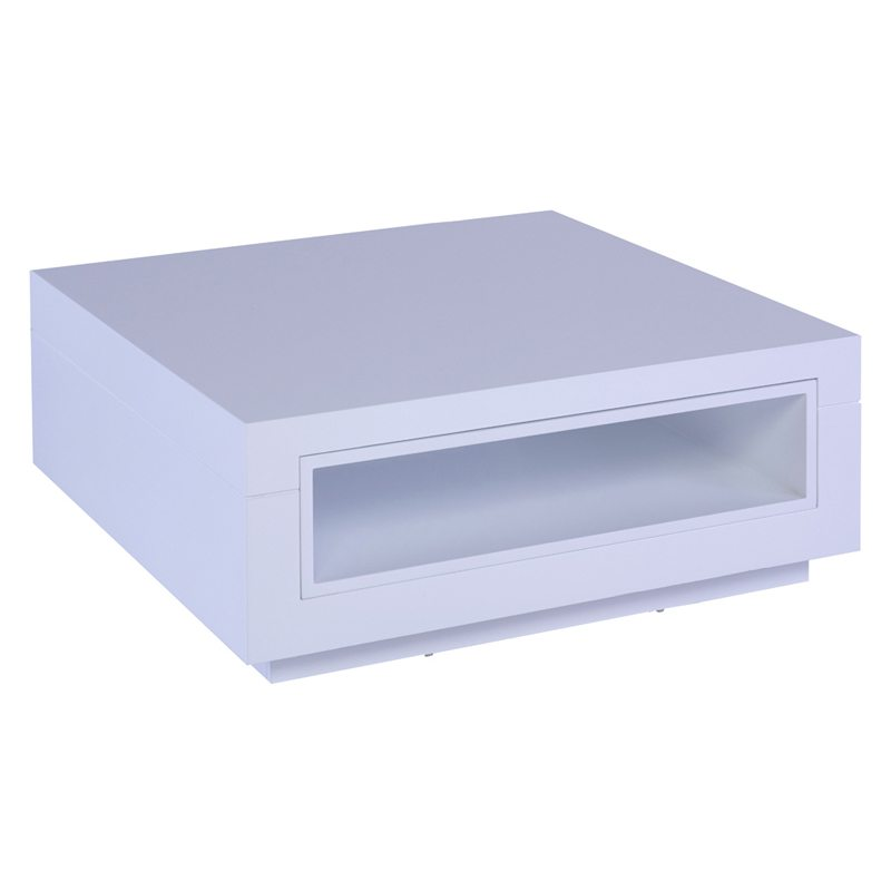 Michele White Square Coffee Table with Lacquer Finish
