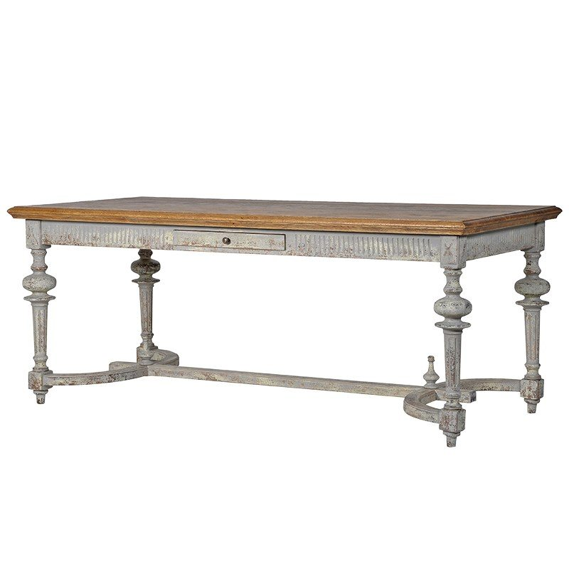Mila Grey Wood Dining Table