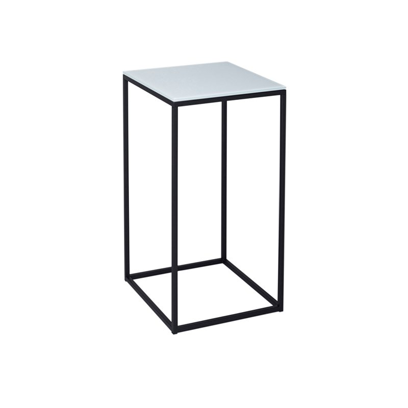 Plaire Square Side Table with Black Open Metal Frame