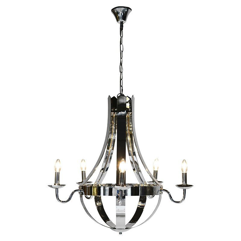 Rafael 6 Arm Chrome Chandelier