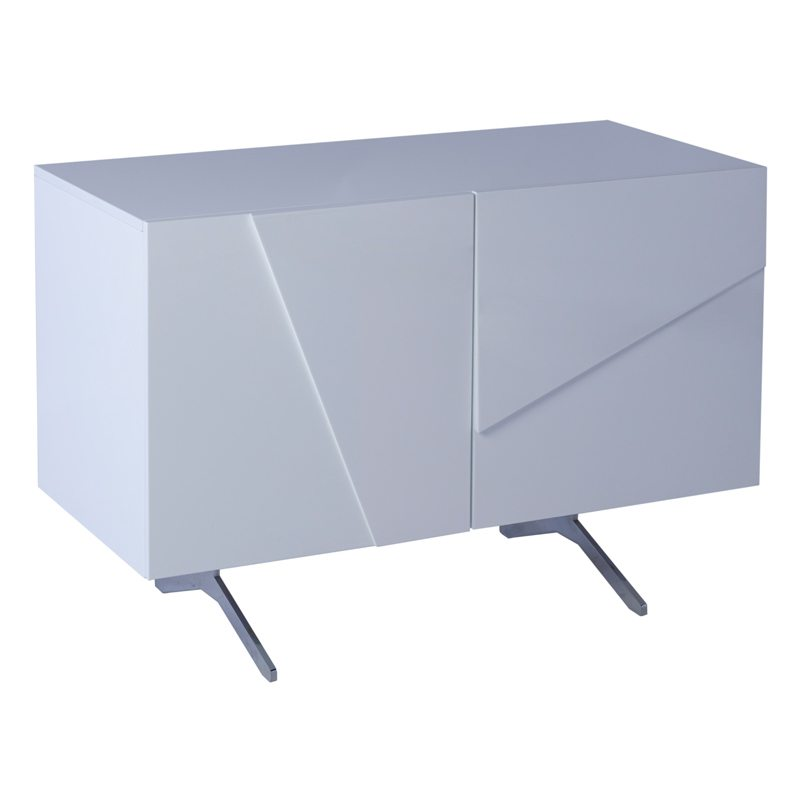 Raimona Tall White Lacquer 2 Door Sideboard