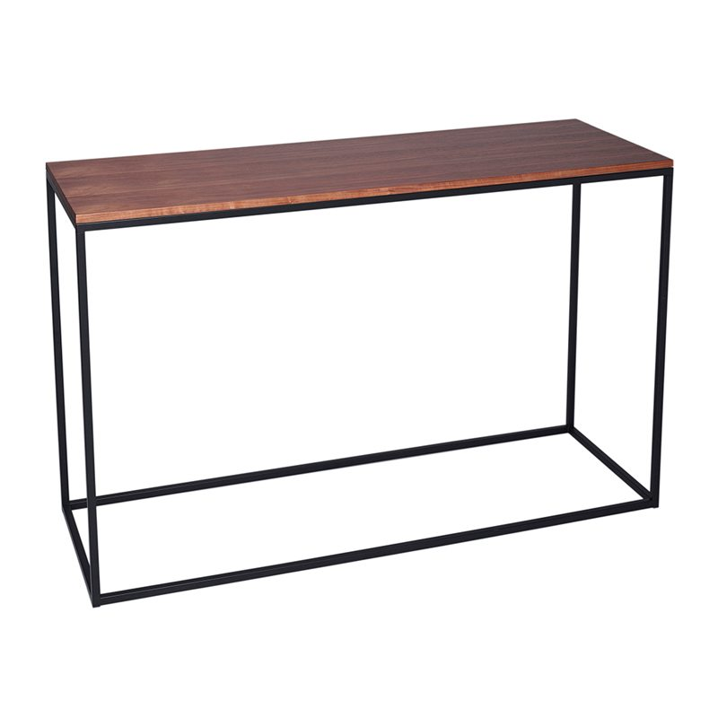 Ruban Wood Console Table with Black Open Frame