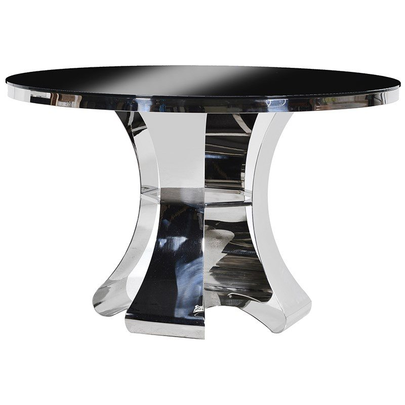 Taylor Polished Chrome Dining Table