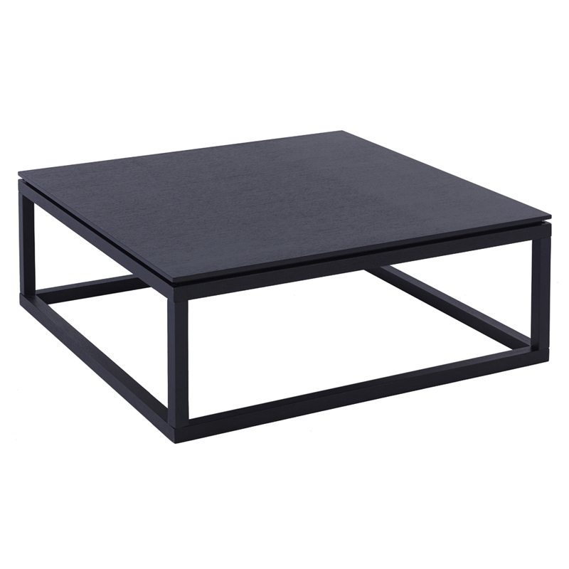 Tomassa Black Large Square Coffee Table Casa Uniqua