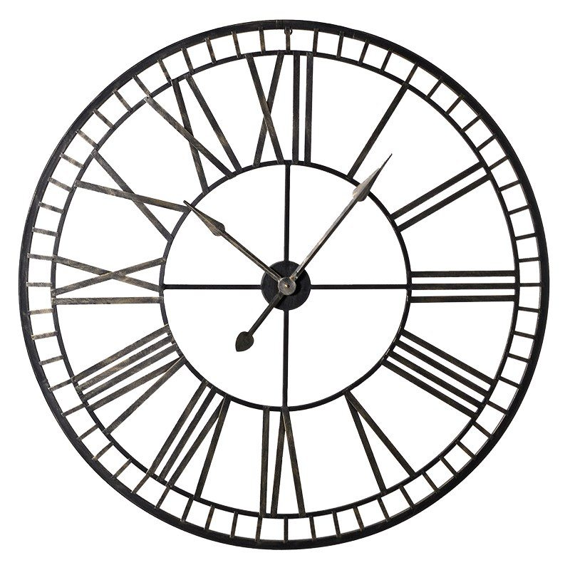 Zoe Iron Wall Clock