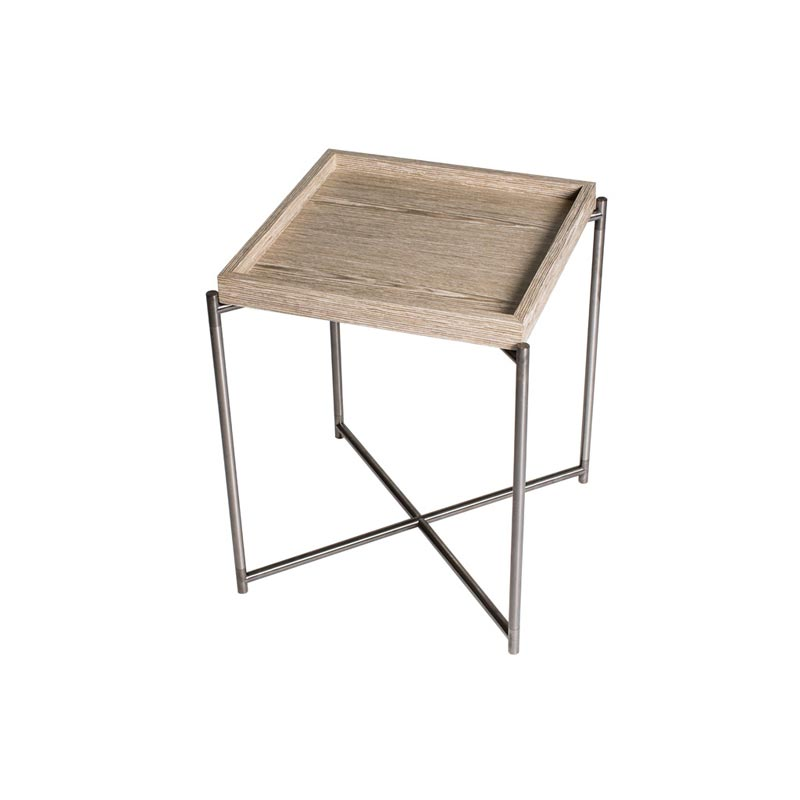Sante Weathered Oak Tray Side Table