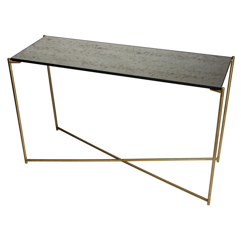 Super Sofia Antique Glass Console Table Brass Frame Andrewgaddart Wooden Chair Designs For Living Room Andrewgaddartcom