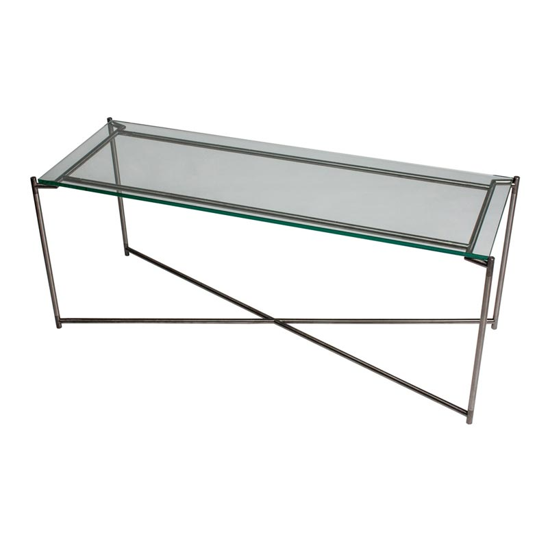 Vitale Glass Low Console