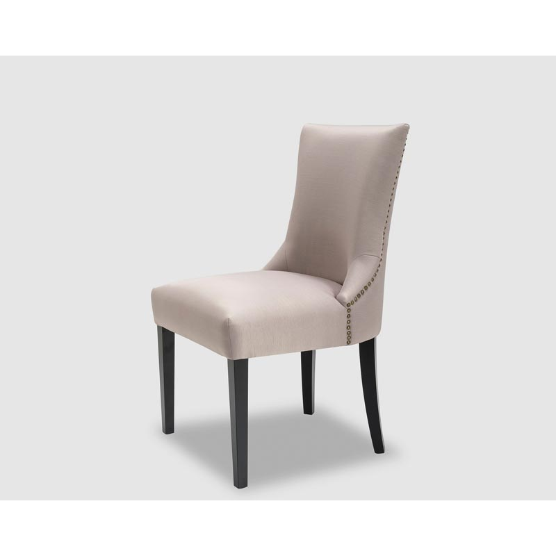 taupe studded dining chair