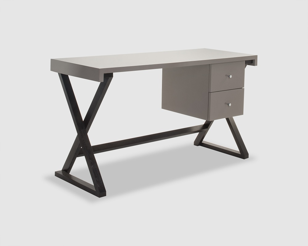 Taupe High Gloss Wooden Desk