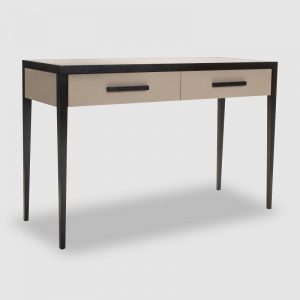 Faux Leather Wenge Console Table