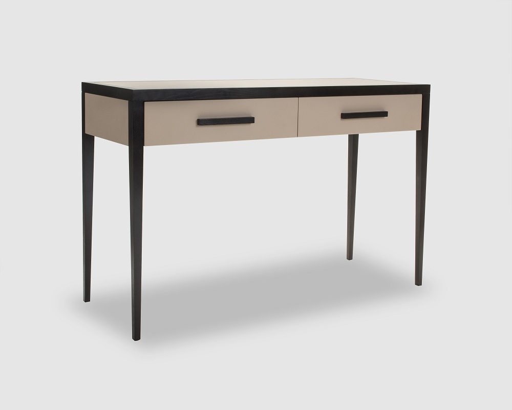 bonsa faux leather wenge console table casa uniqua. Black Bedroom Furniture Sets. Home Design Ideas