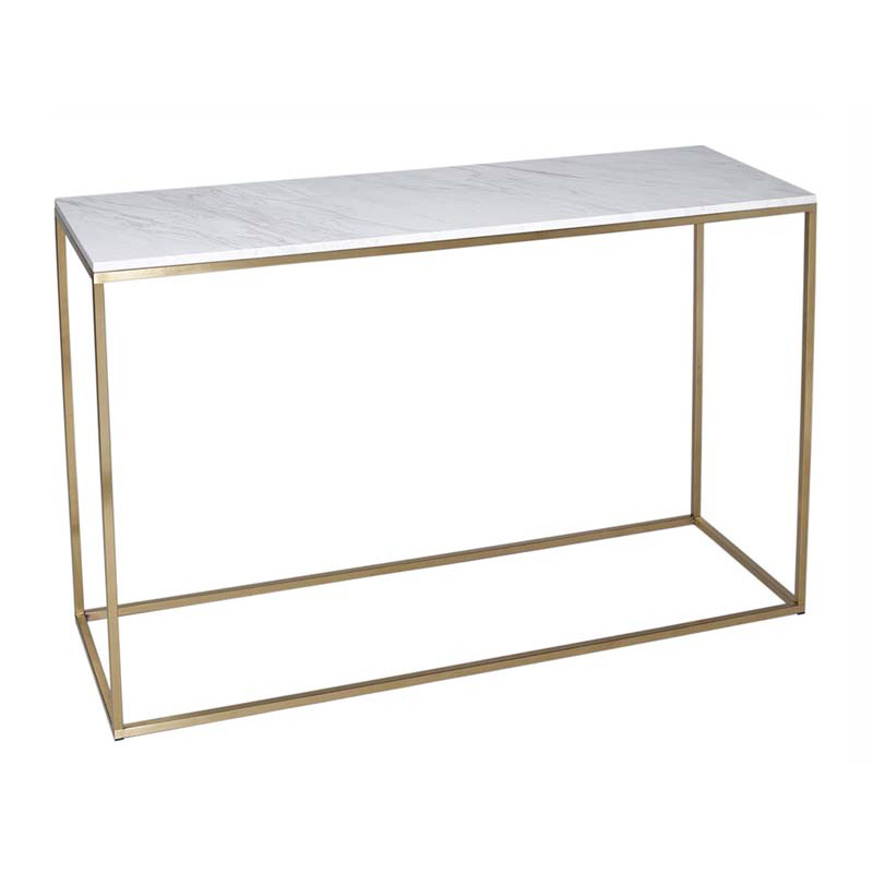 Marble Console Table Brass Frame