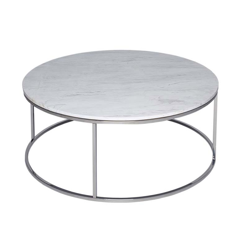 Round Marble Coffee Table Steel Frame