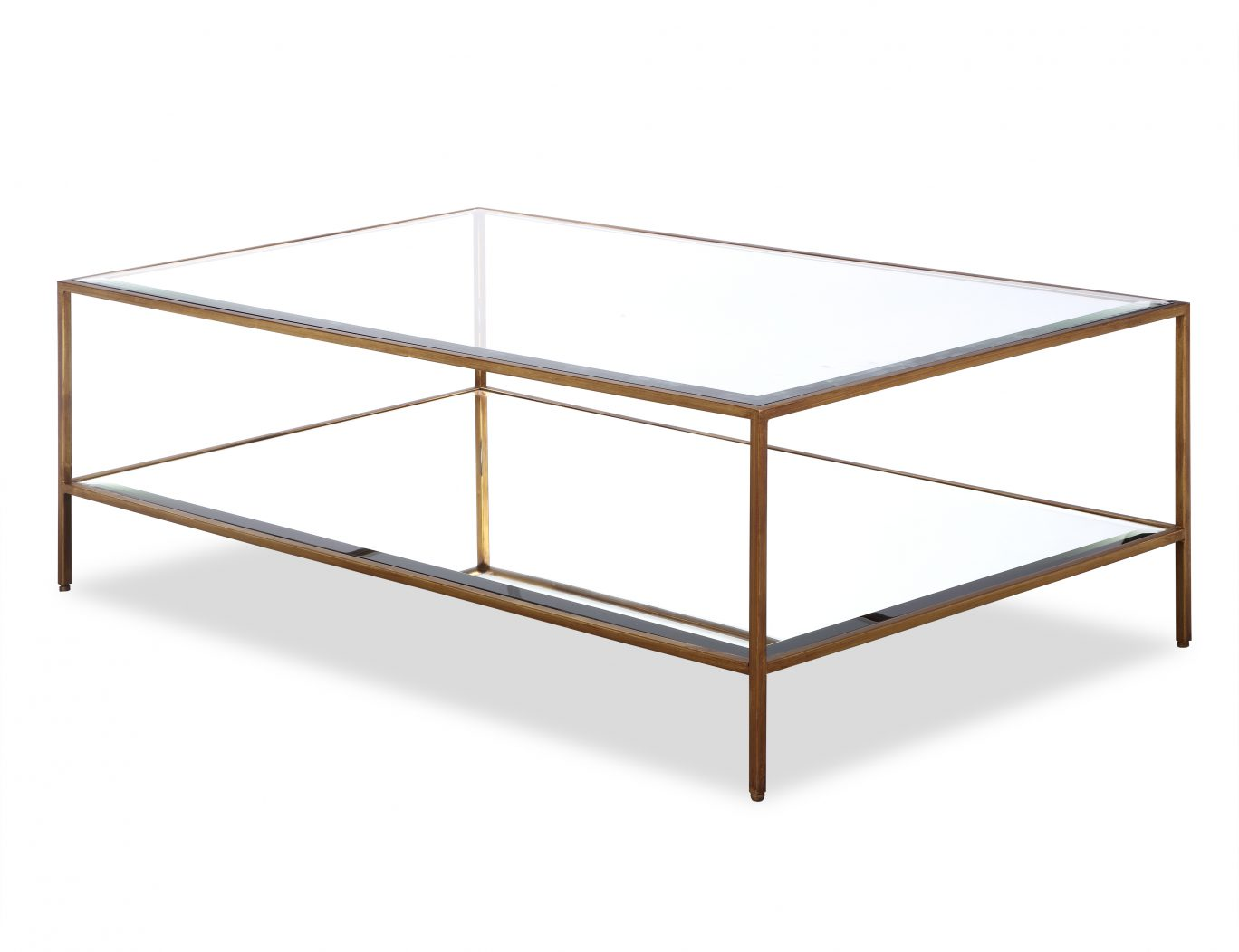 Hammersmith Glass Coffee Table Antique Gold Casa Uniqua