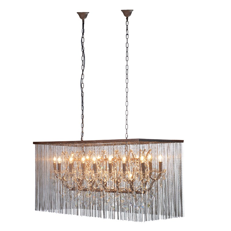 Rectangle Metal Chain Chandelier